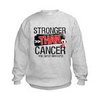 Stronger Than Oral Cancer Kids Sweatshirt