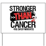 Stronger Than Oral Cancer Yard Sign