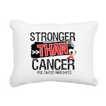 Stronger Than Oral Cancer Rectangular Canvas Pillo