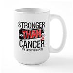 Stronger Than Oral Cancer Large Mug