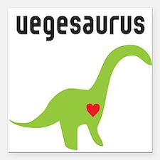 """vegesaurus Square Car Magnet 3"""" x 3"""""""