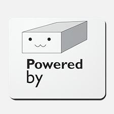 powered by tofu Mousepad