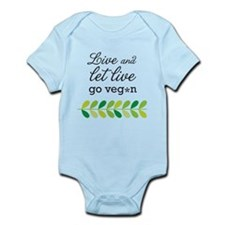 live and let live -go vegan Body Suit