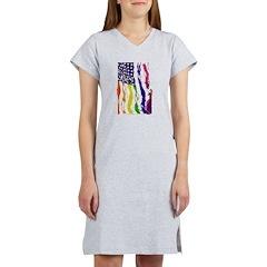 American Flag Color Women's Nightshirt
