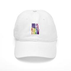 American Flag Color Baseball Baseball Cap