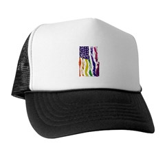 American Flag Color Trucker Hat