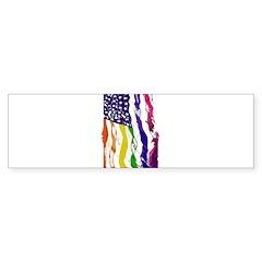 American Flag Color Bumper Bumper Sticker