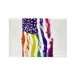 American Flag Color Rectangle Magnet (100 pack)
