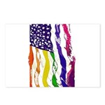 American Flag Color Postcards (Package of 8)