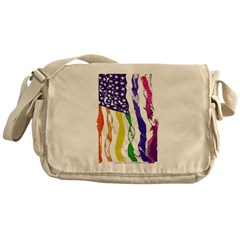 American Flag Color Messenger Bag