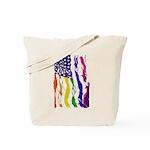 American Flag Color Tote Bag