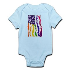 American Flag Color Body Suit