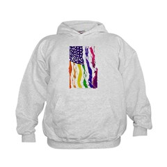 American Flag Color Hoodie