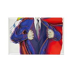 Super Man, Dad Rectangle Magnet (100 pack)