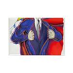 Super Man, Dad Rectangle Magnet (10 pack)