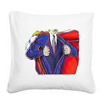 Super Man, Dad Square Canvas Pillow