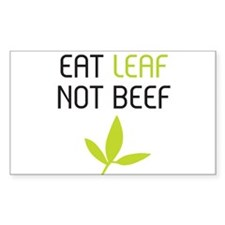 Eat leaf not beef Decal