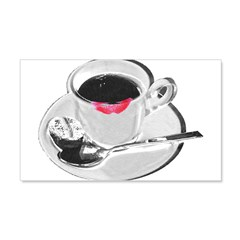 Coffee Lipstick Wall Decal