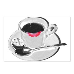 Coffee Lipstick Postcards (Package of 8)
