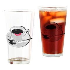 Coffee Lipstick Drinking Glass
