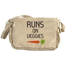 Runs on Veggies Messenger Bag