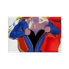 Super Woman, Mom Rectangle Magnet