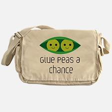 give peas a chance Messenger Bag
