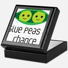 give peas a chance Keepsake Box