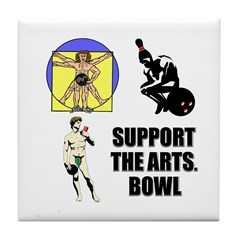 Support the Arts Bowl Tile Coaster