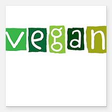 """vegan Square Car Magnet 3"""" x 3"""""""