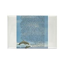 DESIDERATA Poem Dolphins Rectangle Magnet