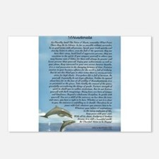 DESIDERATA Poem Dolphins Postcards (Package of 8)