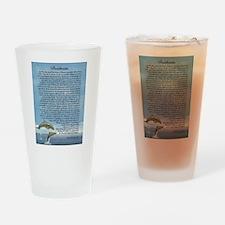 DESIDERATA Poem Dolphins Drinking Glass