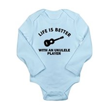 Ukulele designs Long Sleeve Infant Bodysuit