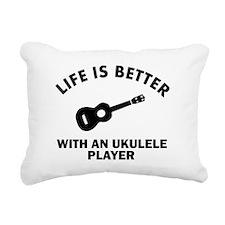 Ukulele designs Rectangular Canvas Pillow