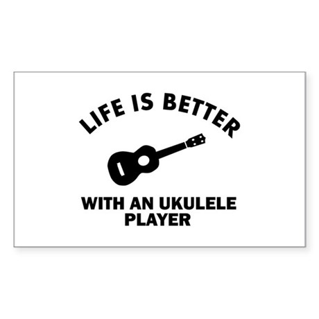 Ukulele designs Sticker (Rectangle)