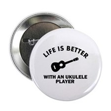 "Ukulele designs 2.25"" Button (10 pack)"