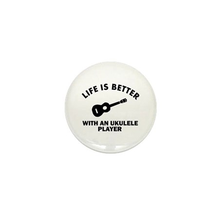 Ukulele designs Mini Button (10 pack)