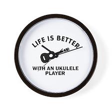 Ukulele designs Wall Clock