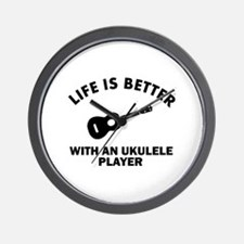 Ukulele designs Wall Clock