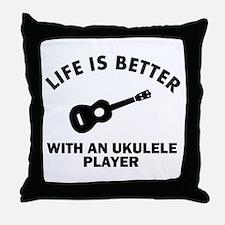 Ukulele designs Throw Pillow