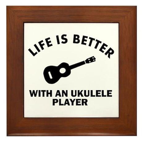Ukulele designs Framed Tile