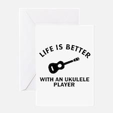 Ukulele designs Greeting Card