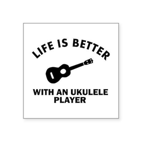 "Ukulele designs Square Sticker 3"" x 3"""