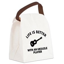 Ukulele designs Canvas Lunch Bag