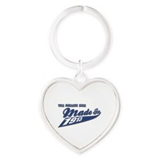 Made in 1913 Heart Keychain