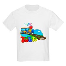TuTiTu Train bubbles sky T-Shirt