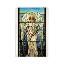 Angel in Pink Rectangle Magnet