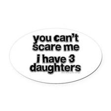 Parent of 3 Girls Oval Car Magnet