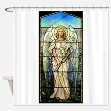 Angel in Pink Shower Curtain